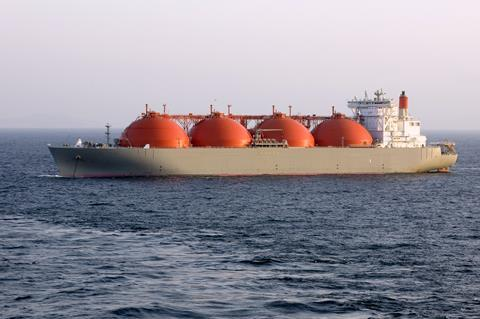 LNG tanker on the ocean
